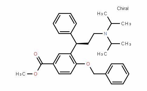 Benzoic acid, 3-[(1R)-3-[bis(1-methylethyl)amino]-1-phenylpropyl]-4-(phenylmethoxy)-, methyl ester
