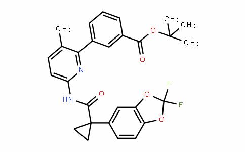 Benzoic acid, 3-[6-[[[1-(2,2-Difluoro-1,3-benzoDioxol-5-yl)cyclopropyl]carbonyl]amino]-3-methyl-2-pyriDinyl]-, 1,1-Dimethylethyl ester