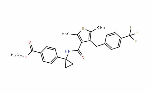 Benzoic acid, 4-[1-[[[2,5-DiMethyl-4-[[4-(trifluoroMethyl)phenyl]Methyl]-3-thienyl]carbonyl]aMino]cyclopropyl]-, Methyl ester