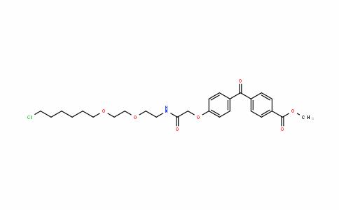 Benzoic acid, 4-[4-[2-[[2-[2-[(6-chlorohexyl)oxy]ethoxy]ethyl]aMino]-2-oxoethoxy]benzoyl]-, Methyl ester