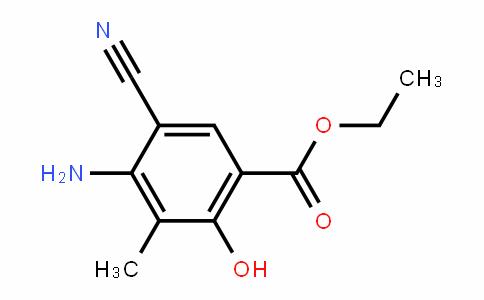 Benzoic acid, 4-amino-5-cyano-2-hyDroxy-3-methyl-, ethyl ester