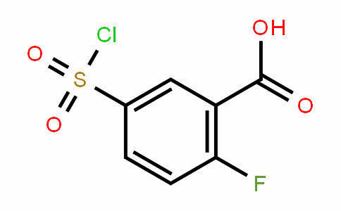 Benzoic acid, 5-(chlorosulfonyl)-2-fluoro-