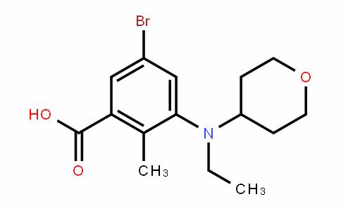 Benzoic acid, 5-bromo-3-[ethyl(tetrahyDro-2H-pyran-4-yl)amino]-2-methyl-