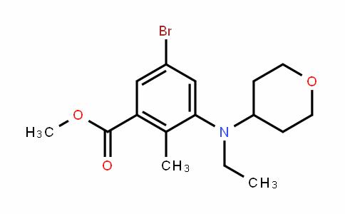 Benzoic acid, 5-bromo-3-[ethyl(tetrahyDro-2H-pyran-4-yl)amino]-2-methyl-, methyl ester