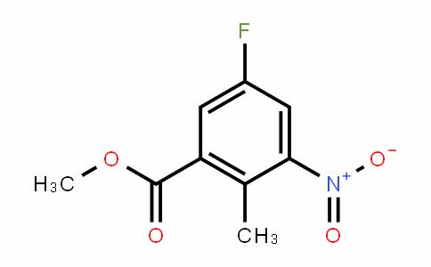 Benzoic acid, 5-fluoro-2-methyl-3-nitro-, methyl ester