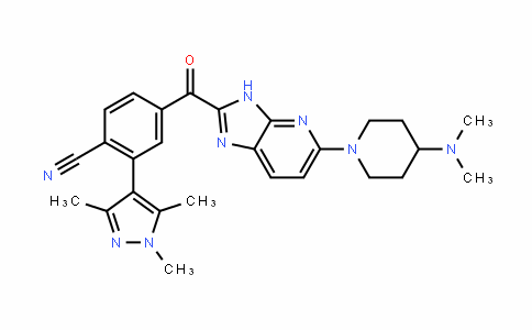 Benzonitrile, 4-[[5-[4-(DiMethylaMino)-1-piperiDinyl]-3H-iMiDazo[4,5-b]pyriDin-2-yl]carbonyl]-2-(1,3,5-triMethyl-1H-pyrazol-4-yl)-