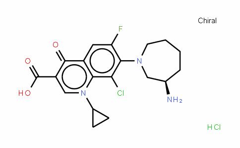 (R)-7-(3-氨基六氢-1H-氮杂卓-1-基)-8-氯-1-环丙基-6-氟-1,4-二氢-4-氧代-3-喹啉甲酸