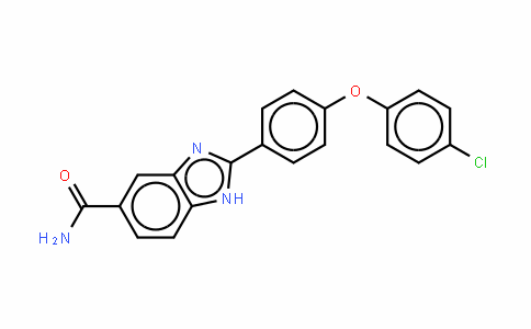 2-(4-(4-CHLOROPHENOXY)PHENYL)-1H-BENZO[D]IMIDAZOLE-5-CARBOXAMIDE