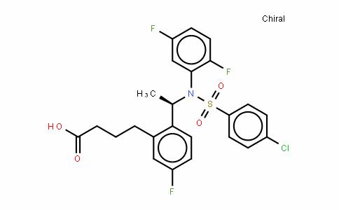 2-[(1R)-1-[[(4-氯苯基)磺酰基](2,5-二氟苯基)氨基]乙基]-5-氟苯丁酸
