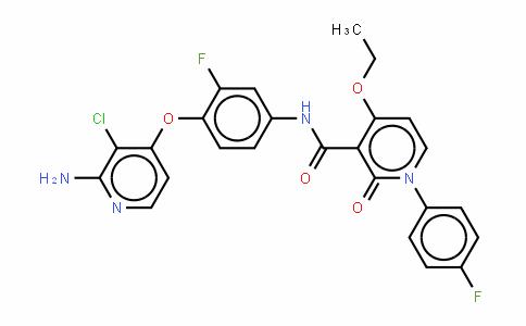 N-[4-[(2-氨基-3-氯吡啶-4-基)氧基]-3-氟苯基]-4-乙氧基-1-(4-氟苯基)-2-氧代-1,2-二氢吡啶-3-甲酰胺