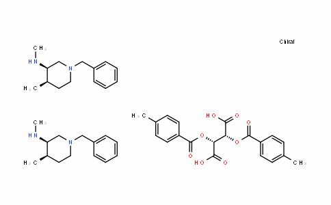 ButaneDioic acid, 2,3-bis[(4-Methylbenzoyl)oxy]-, (2R,3R)-, coMpD. with (3R,4R)-N,4-DiMethyl-1-(phenylMethyl)-3-piperiDinaMine (1:2)