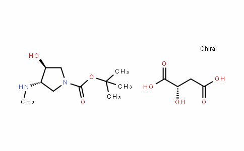 ButaneDioic acid, 2-hyDroxy-, (2S)-, compD. with (3S,4S)-1,1-Dimethylethyl 3-hyDroxy-4-(methylamino)-1-pyrroliDinecarboxylate (1:1)