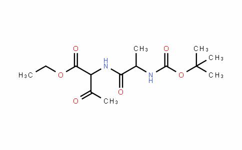 Butanoic acid, 2-[[2-[[(1,1-Dimethylethoxy)carbonyl]amino]-1-oxopropyl]amino]-3-oxo-, ethyl ester