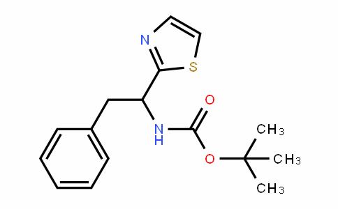 CarbaMic acid, [2-phenyl-1-(2-thiazolyl)ethyl]-, 1,1-DiMethylethyl ester (9CI)