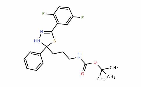 Carbamic acid, [3-[5-(2,5-Difluorophenyl)-2,3-DihyDro-2-phenyl-1,3,4-thiaDiazol-2-yl]propyl]-, 1,1-Dimethylethyl ester (9CI)