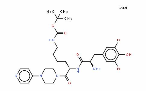 CarbaMic acid, [5-[[2-aMino-3-(3,5-DibroMo-4-hyDroxyphenyl)-1-oxopropyl]aMino]-6-oxo-6-[4-(4-pyriDinyl)-1-piperazinyl]hexyl]-, 1,1-DiMethylethyl ester, [S-(R*,S*)]- (9CI)