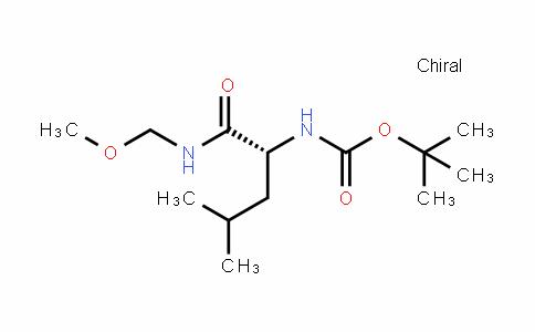 Carbamic acid, N-[(1R)-1-[(methoxymethylamino)carbonyl]-3-methylbutyl]-, 1,1-Dimethylethyl ester