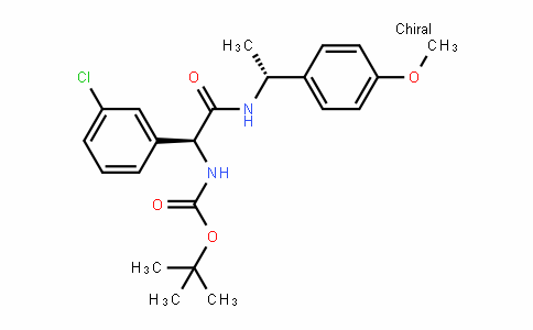 CarbaMic acid, N-[(1S)-1-(3-chlorophenyl)-2-[[(1R)-1-(4-Methoxyphenyl)ethyl]aMino]-2-oxoethyl]-, 1,1-DiMethylethyl ester