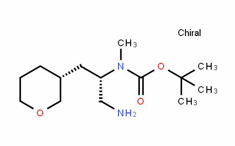 Carbamic acid, N-[(1S)-1-(aminomethyl)-2-[(3R)-tetrahyDro-2H-pyran-3-yl]ethyl]-N-methyl-, 1,1-Dimethylethyl ester