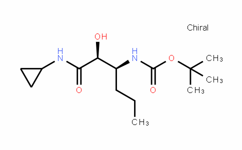 Carbamic acid, N-[(1S)-1-[(1S)-2-(cyclopropylamino)-1-hyDroxy-2-oxoethyl]butyl]-, 1,1-Dimethylethyl ester