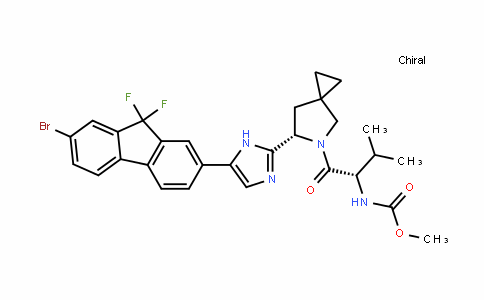 Carbamic acid, N-[(1S)-1-[[(6S)-6-[5-(7-bromo-9,9-Difluoro-9H-fluoren-2-yl)-1H-imiDazol-2-yl]-5-azaspiro[2.4]hept-5-yl]carbonyl]-2-methylpropyl]-, methyl ester