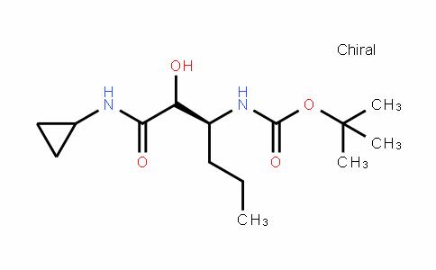 Carbamic acid, N-[(1S)-1-[2-(cyclopropylamino)-1-hyDroxy-2-oxoethyl]butyl]-, 1,1-Dimethylethyl ester