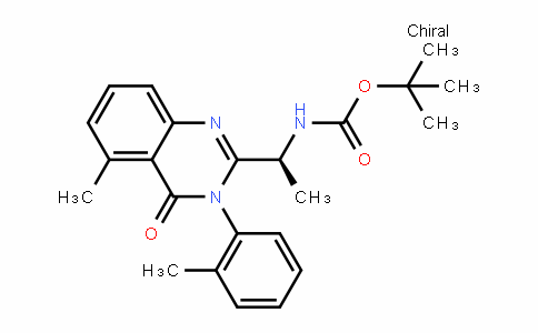 Carbamic acid, N-[(1S)-1-[3,4-DihyDro-5-methyl-3-(2-methylphenyl)-4-oxo-2-quinazolinyl]ethyl]-, 1,1-Dimethylethyl ester