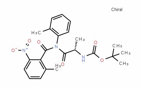 Carbamic acid, N-[(1S)-1-methyl-2-[(2-methyl-6-nitrobenzoyl)(2-methylphenyl)amino]-2-oxoethyl]-, 1,1-Dimethylethyl ester