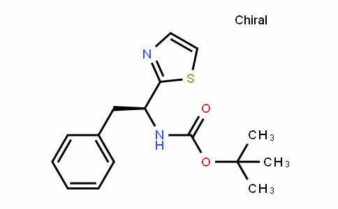 CarbaMic acid, N-[(1S)-2-phenyl-1-(2-thiazolyl)ethyl]-, 1,1-DiMethylethyl ester