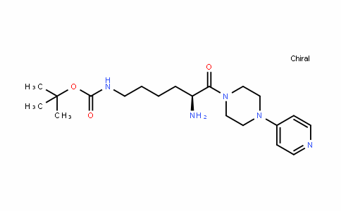 Carbamic acid, N-[(5S)-5-amino-6-oxo-6-[4-(4-pyriDinyl)-1-piperazinyl]hexyl]-, 1,1-Dimethylethyl ester
