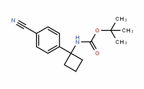 1-(4-氰基苯基)环丁基氨基甲酸叔丁酯