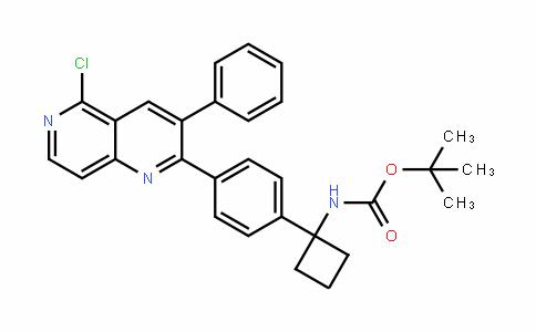 Carbamic acid, N-[1-[4-(5-chloro-3-phenyl-1,6-naphthyriDin-2-yl)phenyl]cyclobutyl]-, 1,1-Dimethylethyl ester