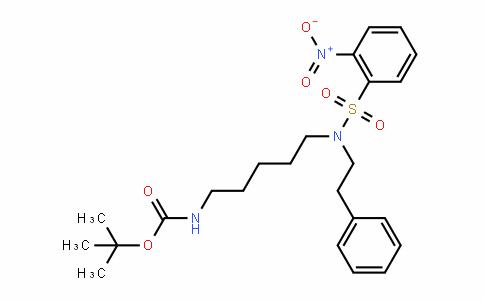 CarbaMic acid, N-[5-[[(2-nitrophenyl)sulfonyl](2-phenylethyl)aMino]pentyl]-, 1,1-DiMethylethyl ester