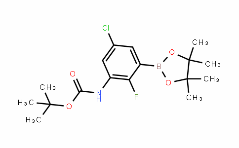 CarbaMic acid, N-[5-chloro-2-fluoro-3-(4,4,5,5-tetraMethyl-1,3,2-Dioxaborolan-2-yl)phenyl]-, 1,1-DiMethylethyl ester