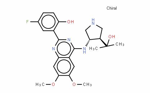 (3R,4S)-4-[[2-(5-氟-2-羟基苯基)-6,7-二甲氧基-4-喹唑啉基]氨基]-ALPHA,ALPHA-二甲基-3-吡咯烷甲醇