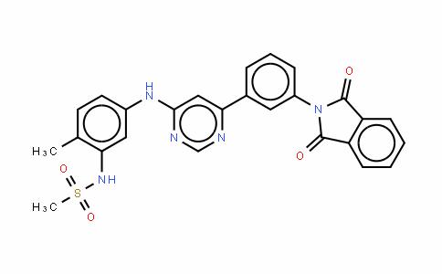 N-[5-[[6-[3-(1,3-二氧代异吲哚-2-基)苯基]嘧啶-4-基]氨基]-2-甲基苯基]甲烷磺酰胺