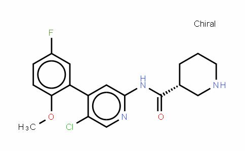 (3R)-N-[5-氯-4-(5-氟-2-甲氧基苯基)-2-吡啶基]-3-哌啶甲酰胺