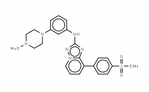 N-[3-(4-甲基-1-哌嗪基)苯基]-8-[4-(甲磺酰基)苯基]-[1,2,4]三唑并[1,5-A]吡啶-2-胺