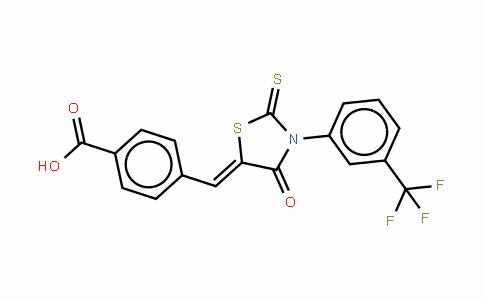 3-[(3-三氟甲基)苯基]-5-[(4-羧基苯基)亚甲基]-2-硫代-4-噻唑烷酮
