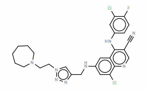 6-[[[1-[2-(氮杂庚烷-1-基)乙基]-1H-1,2,3-三唑-4-基]甲基]氨基]-8-氯-4-[(3-氯-4-氟苯基)氨基]喹啉-3-甲腈