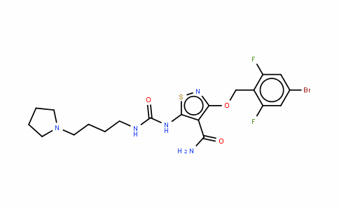 3-[(4-溴-2,6-二氟苄基)氧基]-5-[3-[4-(吡咯烷-1-基)丁基]脲基]异噻唑-4-甲酰胺