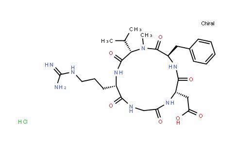 Cyclo(L-arginylglycyl-L-α-aspartyl-D-phenylalanyl-N-Methyl-L-valyl), hyDrochloriDe (1:1)