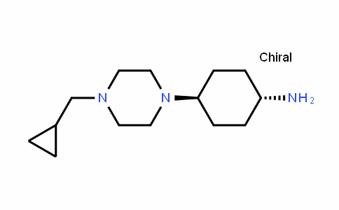Cyclohexanamine, 4-[4-(cyclopropylmethyl)-1-piperazinyl]-, trans-
