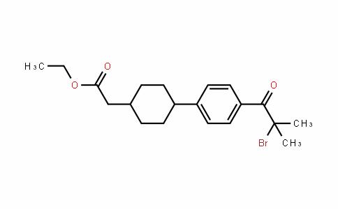 Cyclohexaneacetic acid, 4-[4-(2-bromo-2-methyl-1-oxopropyl)phenyl]-, ethyl ester