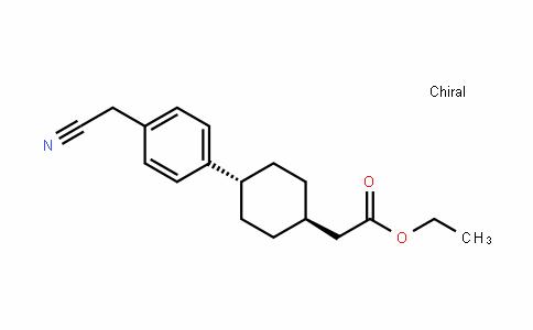 Cyclohexaneacetic acid, 4-[4-(cyanoMethyl)phenyl]-, ethyl ester, trans-