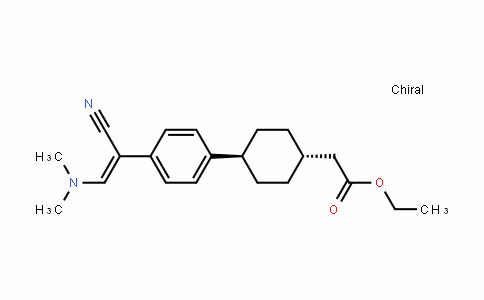 Cyclohexaneacetic acid, 4-[4-[(1Z)-1-cyano-2-(DiMethylaMino)ethenyl]phenyl]-, ethyl ester, trans-