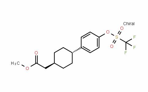 Cyclohexaneacetic acid, 4-[4-[[(trifluoromethyl)sulfonyl]oxy]phenyl]-, methyl ester, trans-