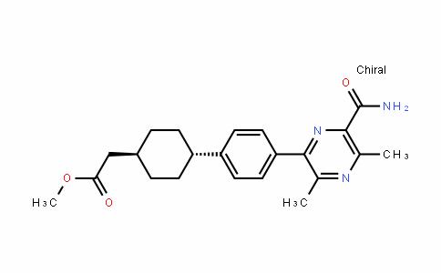 Cyclohexaneacetic acid, 4-[4-[6-(aminocarbonyl)-3,5-Dimethyl-2-pyrazinyl]phenyl]-, methyl ester, trans-