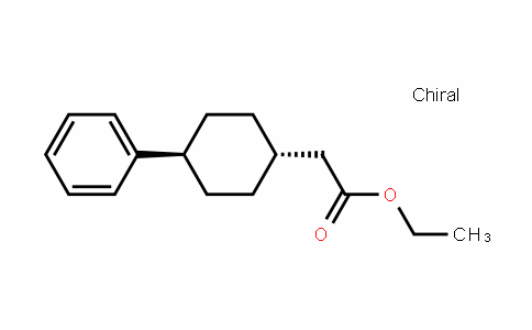 Cyclohexaneacetic acid, 4-phenyl-, ethyl ester, trans-