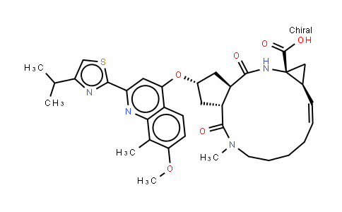 Cyclopenta[c]cyclopropa[g][1,6]DiazacyclotetraDecine-12a(1H)-carboxylic acid, 2,3,3a,4,5,6,7,8,9,11a,12,13,14,14a-tetraDecahyDro-2-[[7-methoxy-8-methyl-2-[4-(1-methylethyl)-2-thiazolyl]-4-quinolinyl]oxy]-5-methyl-4,14-Dioxo-, (2R,3aR,10Z,11aS,12aR,14aR)-